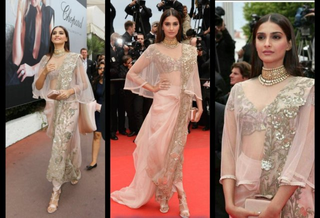 Sonam-Kapoor-in-Anamika-Khanna-Saree-at-Cannes-2014-Red-Carpet-beauty-and-fashion-freaks1